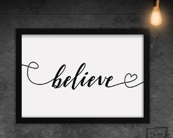 Believe - White - A4