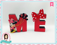 Letras 3d - Minnie
