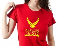 a1f194a5e9 ... Baby Look Capitã Marvel Super Herói Feminina