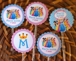 Toppers - Totens - Tags personalizados com Palito