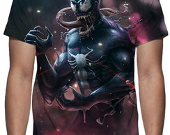 Camiseta Anime Spiderman Venom - Estampa Total