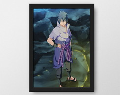Sasuke Rinnegan Supremo - Quadro decorativo Geek
