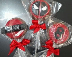 Pirulito de chocolate personalizado Deadpool