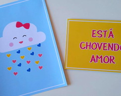 Placas Decorativas - Chuva de Amor