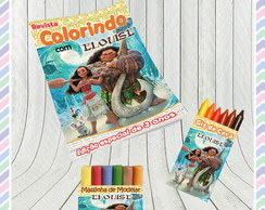 Kit Colorir com Massinha Moana