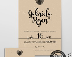 Kit Digital Casamento Craft = Convite + Save the Date