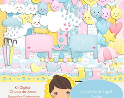 Kit digital Scrapbook Chuva de amor 4