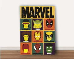 Poster Herois Marvel A4