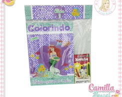 Kit Colorir Pequena Sereia Ariel