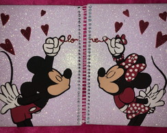 CADERNO MICKEY E MINNIE EVA