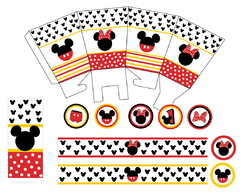 Kit Festa Mickey e Minnie - digital
