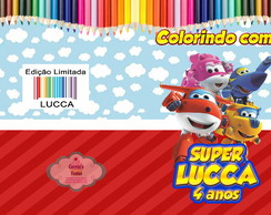 Revistinha de Colorir Super Wings