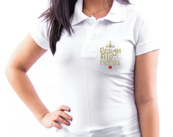 CAMISA POLO UNIVERSITÁRIA BORDADA DESIGN DE INTERIORES FEM