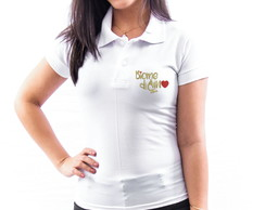 CAMISA POLO UNIVERSITÁRIA BORDADA BIOMEDICINA FEMININA