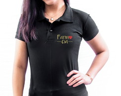 CAMISA POLO UNIVERSITÁRIA BORDADA FARMÁCIA FEMININA