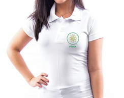 CAMISA POLO UNIVERSITÁRIA BORDADA FÍSICA FEMININA