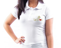 CAMISA POLO UNIVERSITÁRIA BORDADA LETRAS