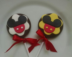 Pirulitos de chocolate personalizados Mickey