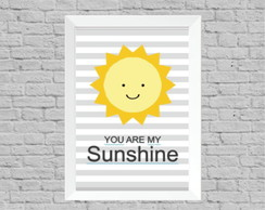 Quadro infantil you are my sunshine