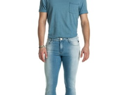CALCA MASCULINA SKINNY BLUE DENIM BD1853