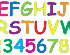 Alfabeto Colorido 158 Elo7