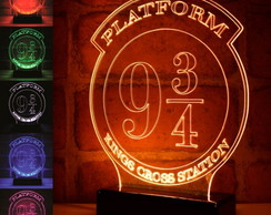 Luminária Plataforma 9 3/4 Led Harry Potter Kingcross