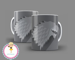 Caneca Game of Thrones Familia Stark