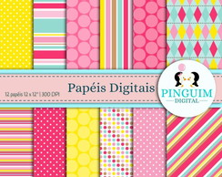 Kit Papel Digital - Candy Colors