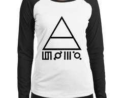 Baby Look Raglan 30 Seconds To Mars Triad Manga Longa