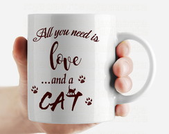 Caneca gatos Love Cat - cód: 1608