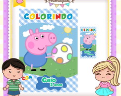 Kit colorir giz George Pig
