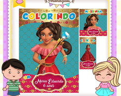 Kit colorir giz massinha Elena de Avalor