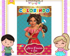 Revistinha de colorir Elena de Avalor