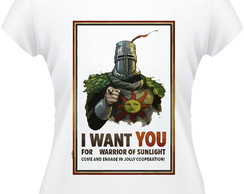 Baby Look Dark Souls Warrior Of Sun Light Camisa Feminina