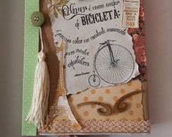 Caderno decorado Scrapbook vintage