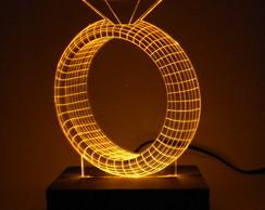 818bddd9aae94 ... Luminária de acrílico e LED Anel de Diamante Amarelo