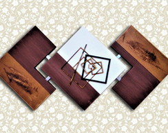 Quadros Abstratos Decorativos Sala - Exclusivo