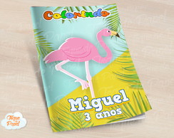 Revista colorir Flamingo