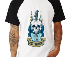 Camisa Raglan Foo Fighters Guitarra Manga Curta