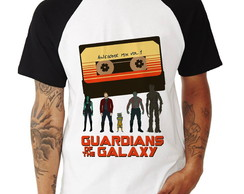 Camisa Raglan Guardiões da Galaxia Awesome Mix Manga Curta