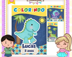 Kit colorir giz massinha Dinossauro
