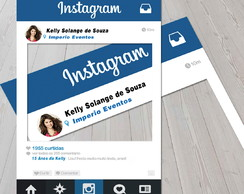 Arte Placa Instagram
