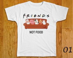 CAMISETA VEGANA FRIENDS NOT FOOD
