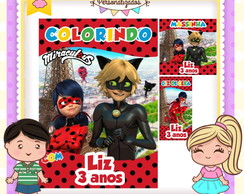 Kit colorir giz massinha Miraculous Ladybug