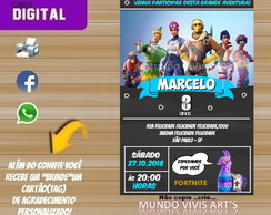 CONVITE DIGITAL FORTNITE BATTLE ROYALE