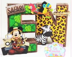 Letras 3D Safari do Mickey