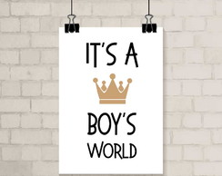 Poster A3 - Boys World