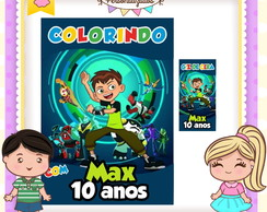 Kit colorir giz Ben 10