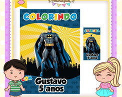 Kit colorir giz Batman