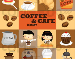 Kit Digital Scrapbook Comodo Café Cafeteria Clipart 149
